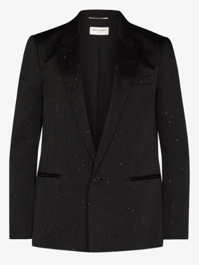 scratch detail blazer