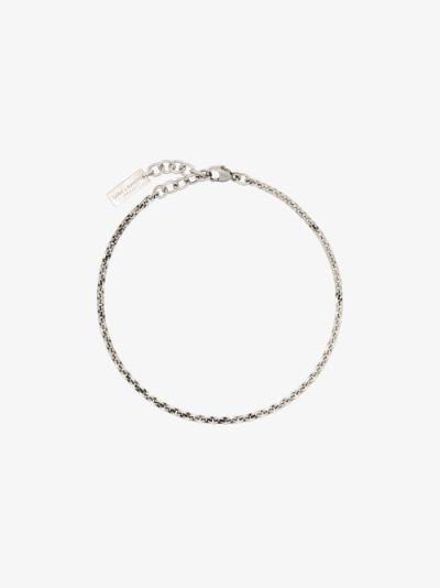 Silver tone link chain bracelet