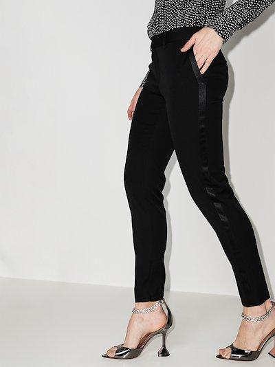 slim wool tuxedo trousers