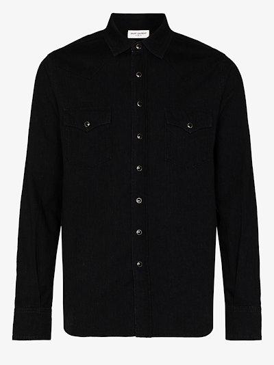 stonewashed Western cotton shirt