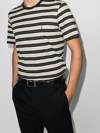 Striped logo wool T-shirt