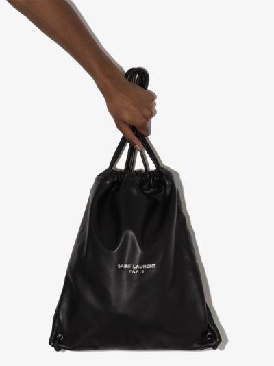Teddy logo-print backpack