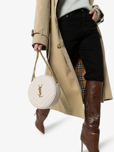 white Jade quilted leather shoulder bag