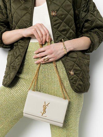 White leather Kate shoulder bag