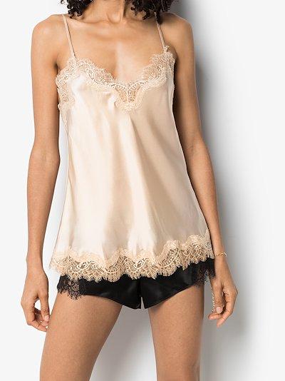 Scarlett lace trim silk camisole top