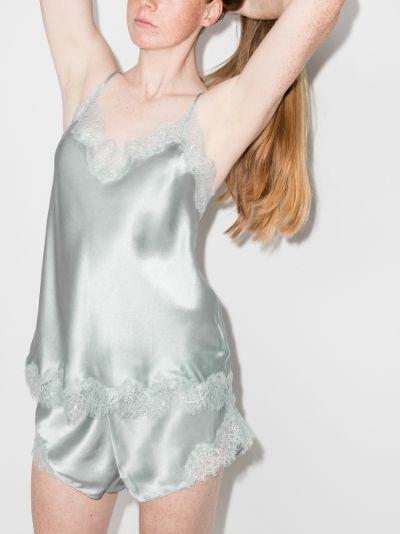 Scarlett Lace Trim Silk Camisole