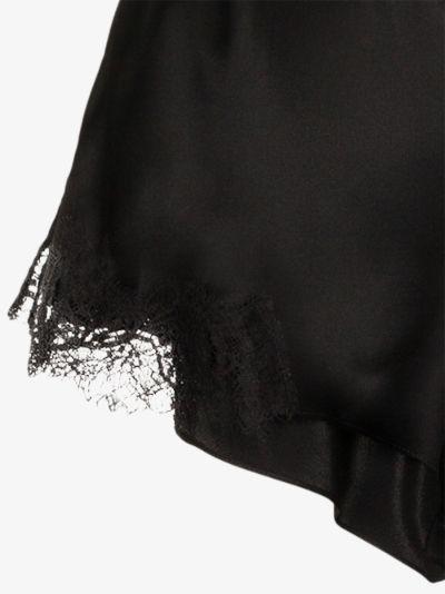 Scarlett lace trim silk shorts