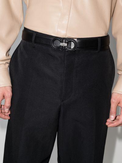 Black Adjustable matte leather belt