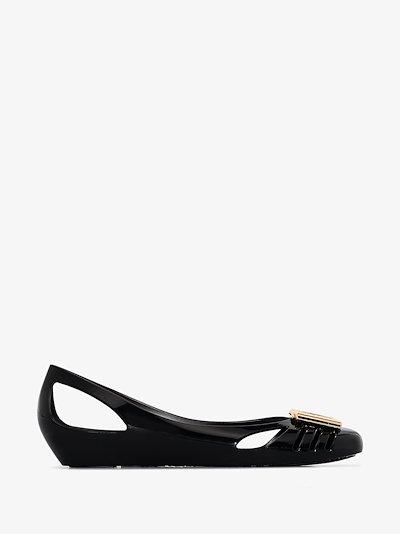 black Bermuda ballerina shoes