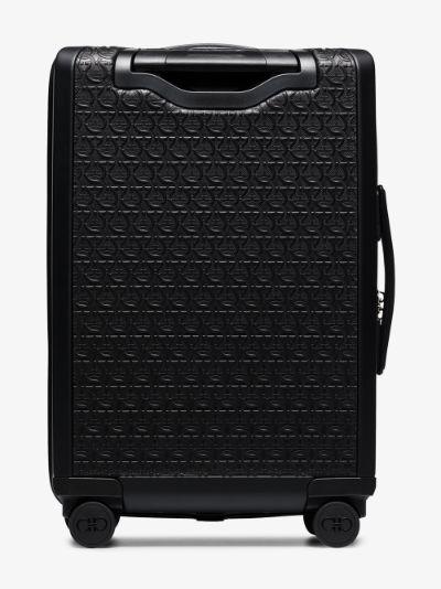 black Gancini cabin suitcase