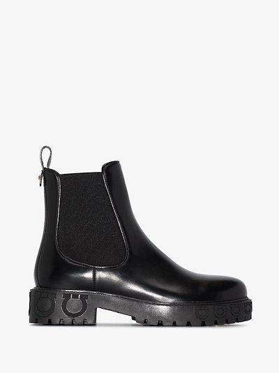 Black Gancini Chelsea boots