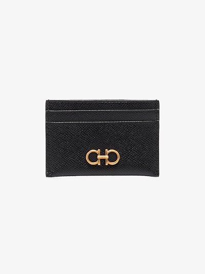 Black Gancini leather card holder