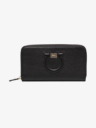 Black Gancini leather wallet