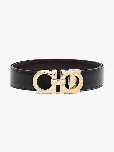 Black Gancini Reversible leather Belt