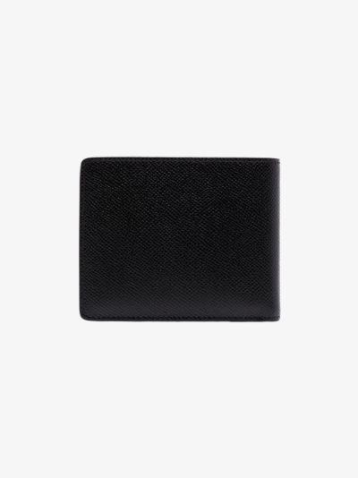 black Gancini slim leather wallet