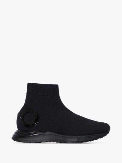 Black Gardena slip-on sneakers