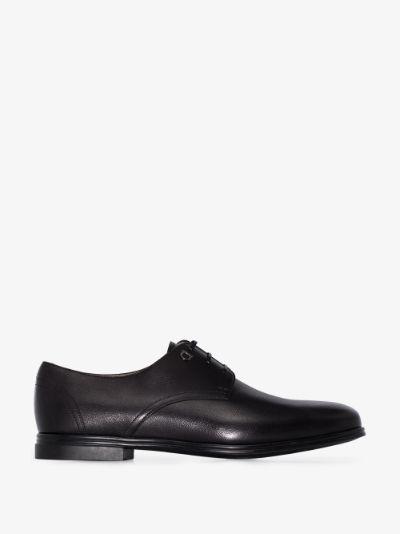 black Spencer leather Derby shoes