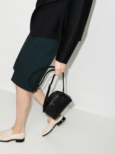 Black Travel leather shoulder bag
