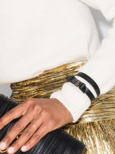 black Vara Bow leather bracelet