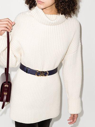 blue Donna Gancini leather belt