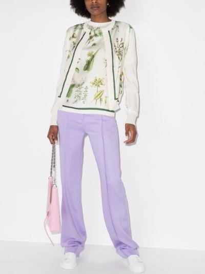 botanical print cardigan