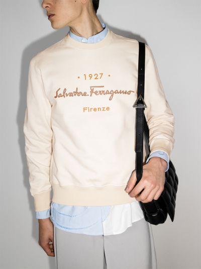 embroidered logo cotton sweatshirt