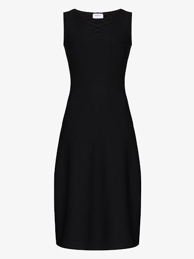 lace-up midi dress