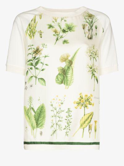 plant print T-shirt