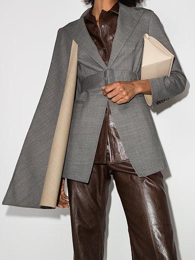 scarf panel single-breasted blazer
