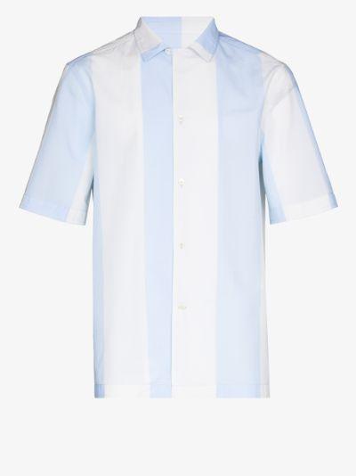 striped short sleeve shirt