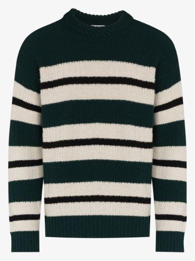 striped virgin wool sweater