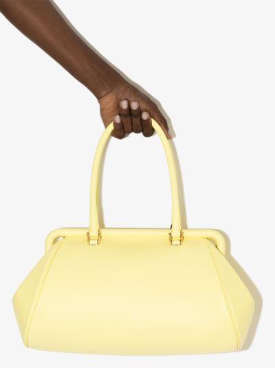 yellow frame leather shoulder bag