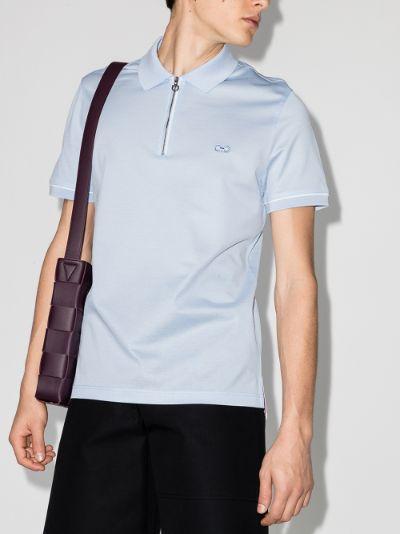 Zip-Up Polo Shirt
