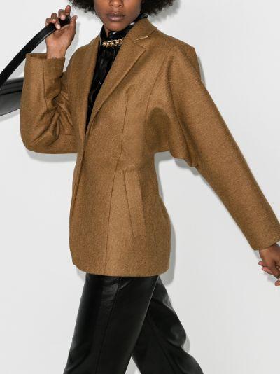oversized sleeve wool jacket