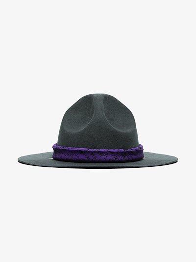 grey cowboy felt hat
