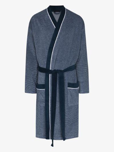 striped pocket detail robe