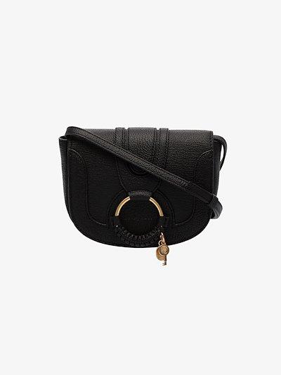 black Mini Hana leather cross body bag