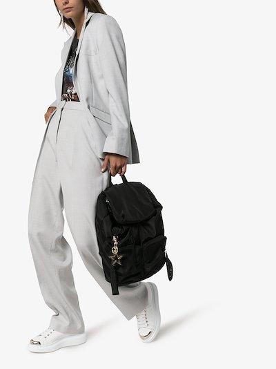Black star charm backpack