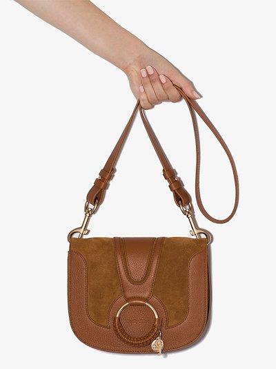 Brown Hana leather cross body bag