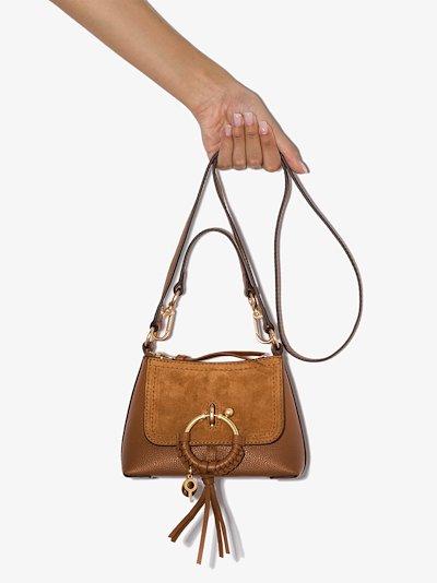 Brown Joan small leather shoulder bag