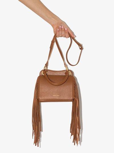 brown Tilda leather top handle bag