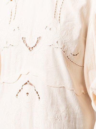 embroidered cutout mini dress