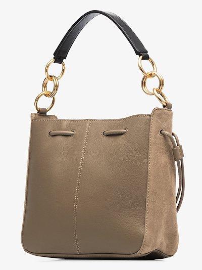 neutral Tony medium leather shoulder bag
