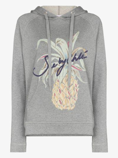 Pineapple logo drawstring hoodie