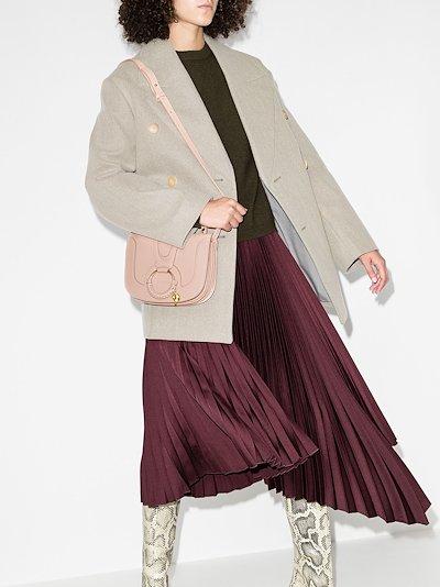 Pink Hana leather cross body bag