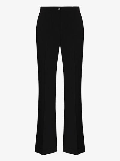 pleated high waist trousers