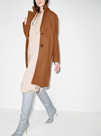 single-breasted virgin wool coat