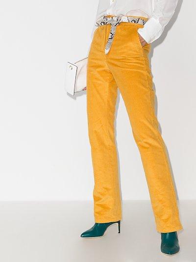 slim leg cord trousers