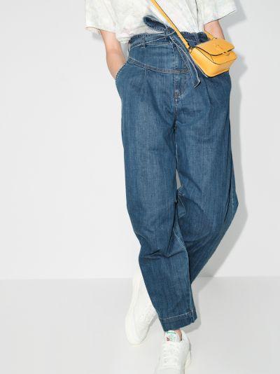 Tie Waist Wide Leg Jeans