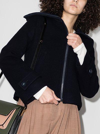zip-up cropped jacket